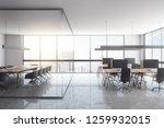 luxury glass office interior... | Shutterstock . vector #1259932015