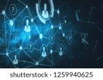 digital business interface... | Shutterstock . vector #1259940625