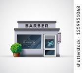 barbershop icon. shop facade...   Shutterstock .eps vector #1259951068