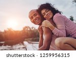 happy moments together. happy... | Shutterstock . vector #1259956315