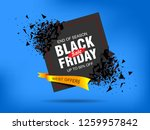 black friday sale abstract... | Shutterstock .eps vector #1259957842
