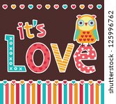 vector love card or poster...