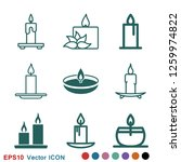 candle vector icon. light...   Shutterstock .eps vector #1259974822
