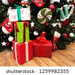 christmas and new year festive... | Shutterstock . vector #1259982355