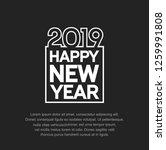 happy new year 2019. vector... | Shutterstock .eps vector #1259991808