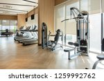 modern fitness center with gym... | Shutterstock . vector #1259992762
