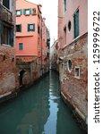 narrow waterway in venice in...   Shutterstock . vector #1259996722