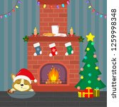 new year and christmas card. a... | Shutterstock .eps vector #1259998348