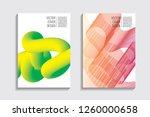 blended covers  gradient wavy... | Shutterstock .eps vector #1260000658