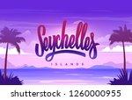 the seychelles islands... | Shutterstock .eps vector #1260000955