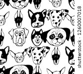 seamless pattern with dog... | Shutterstock .eps vector #1260007018