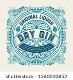 gin label with vintage ornaments | Shutterstock .eps vector #1260010852
