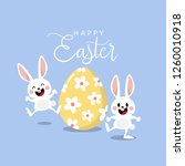 happy easter greeting card with ... | Shutterstock .eps vector #1260010918