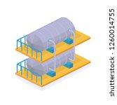 object oil industry. reservoirs ... | Shutterstock .eps vector #1260014755