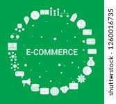 e commerce icon set.... | Shutterstock .eps vector #1260016735