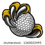 eagle  bird or monster claw or... | Shutterstock .eps vector #1260022495