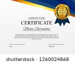 certificate template background.... | Shutterstock .eps vector #1260024868