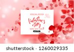 valentine's day sale background.... | Shutterstock .eps vector #1260029335