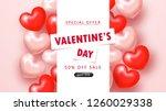valentine's day sale background.... | Shutterstock .eps vector #1260029338
