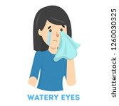 girl in tears. symptom of flu... | Shutterstock .eps vector #1260030325