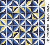 seamless retro pattern in... | Shutterstock .eps vector #1260048262