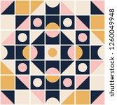 seamless retro pattern in... | Shutterstock .eps vector #1260049948
