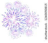 fireworks colorful carnival... | Shutterstock . vector #1260050815