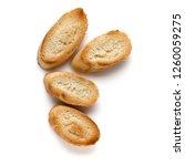 toasted baguette slices... | Shutterstock . vector #1260059275