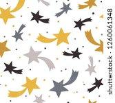 seamless hand drawn star...   Shutterstock . vector #1260061348