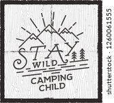 stay wild camping child poster... | Shutterstock .eps vector #1260061555
