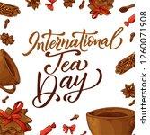 international tea day poster.... | Shutterstock .eps vector #1260071908