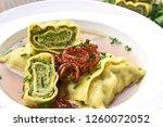 swabian dumplings in broth ...   Shutterstock . vector #1260072052