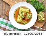 swabian dumplings in broth ...   Shutterstock . vector #1260072055