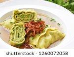 swabian dumplings in broth ...   Shutterstock . vector #1260072058