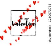 valentines day card with red... | Shutterstock .eps vector #1260073795