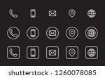 3 different contact information ... | Shutterstock .eps vector #1260078085