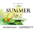 green summer tropical... | Shutterstock .eps vector #1260080275