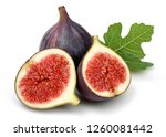 Fresh Purple Fig Fruit And...