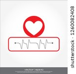 heartbeat with a combination of ... | Shutterstock .eps vector #1260082408