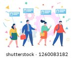 concept of face id. business... | Shutterstock .eps vector #1260083182