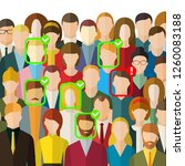 concept of face identification. ... | Shutterstock .eps vector #1260083188