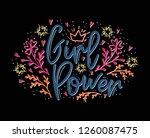 girl power. motivation... | Shutterstock .eps vector #1260087475