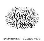girl power. motivation... | Shutterstock .eps vector #1260087478