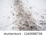 Dirty Traces In The Snow In...
