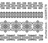set of different lace ribbon....   Shutterstock .eps vector #126009278