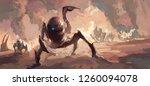 terrorist scenes of alien... | Shutterstock . vector #1260094078