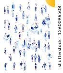 isomeric office people big...   Shutterstock .eps vector #1260096508