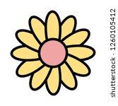daisy vector icon sign icon... | Shutterstock .eps vector #1260105412