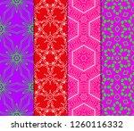 set of geometric seamless... | Shutterstock .eps vector #1260116332