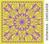 geometric pattern in lace style.... | Shutterstock .eps vector #1260116428
